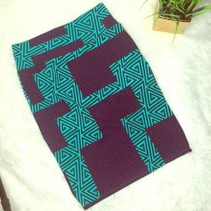 Lularoe Geometric Cassie Pencil Skirt size small